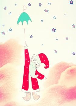 На зонтике